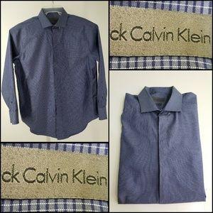 Calvin Klein Men Plaid & Check Button Front Shirt